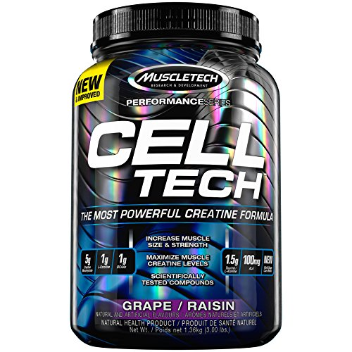 Muscletech Cell-Tech, Grape, 3 lb (Cell Tech Muscletech)
