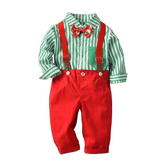 Zoerea Baby Jungen Bodys Gentleman Suit Hosentr/äger Krawatte Shirt /& Hosen Bekleidungssets