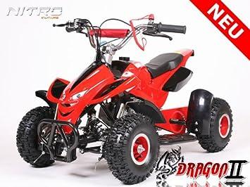 Nitro Motors 49cc Dragon 4 II Mini Quad ATV Bike Pocket Cross Midi Buggy Kinderquad Kinderfahrzeug