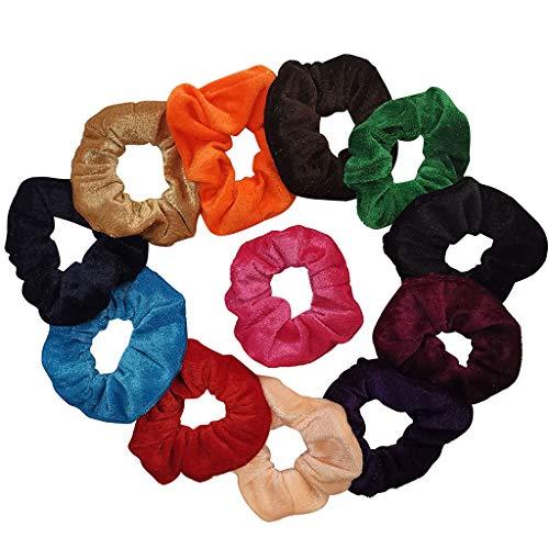 Angel Shimmer Wig - Afazfa12pcs Hair Scrunchies Velvet Cotton Elastic