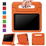 Surom Case for All-New Amazon Fire HD 8 2017 - Kids Shockproof Convertible Handle Light Weight Protective Stand Cover Case for Fire HD 8' Display Tablet (7th Generation, 2017 Release Only), Orange