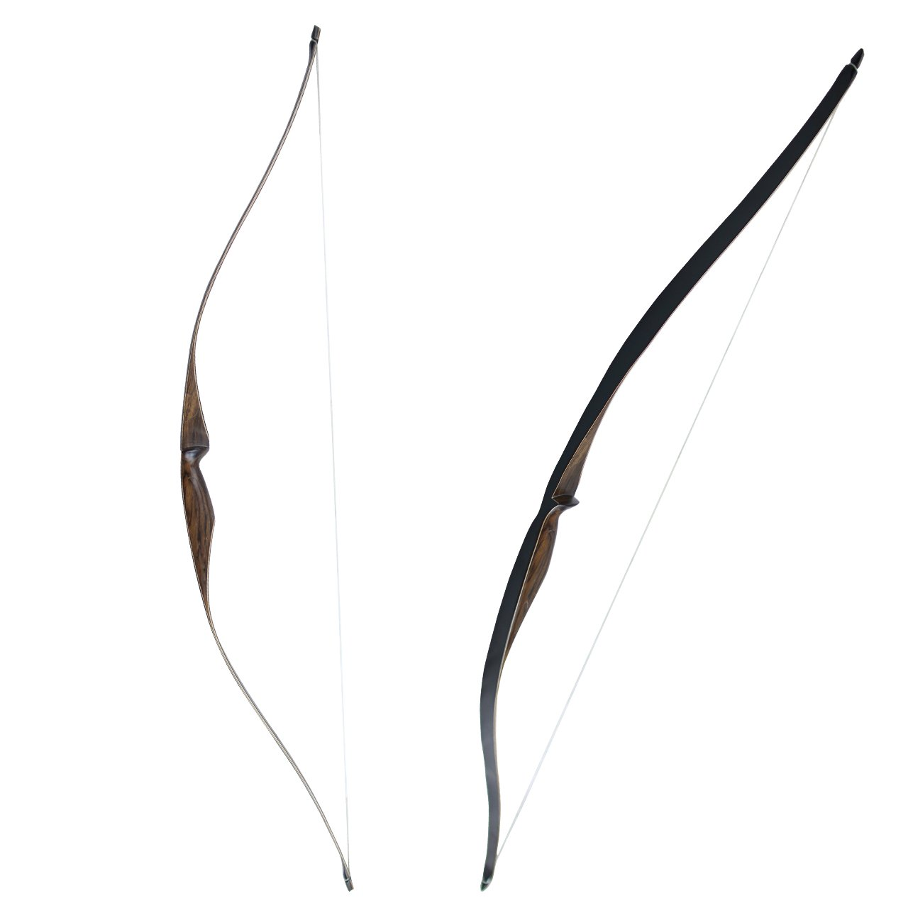 SinoArt Sparrow 54'' Traditional Long Bow 20 25 lbs Draw Weight One-Piece Longbows Recurve Bow Right Hands Beginner Women Tenns (Right Hand 20 lbs)