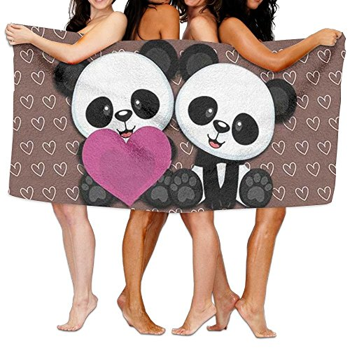 Unisex Cute Kawaii Panda Beach Towels Bath Towels For Teen Girls Adults Travel Towel Washcloth 31x51 Inches
