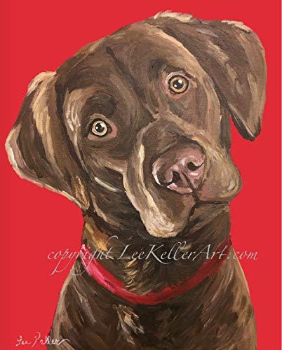 - Chocolate Lab Art Print, Chocolate Labrador Art, Chocolate Lab Gifts