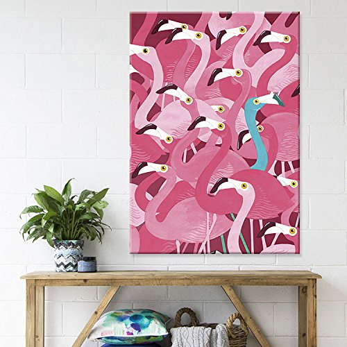 Wowdecor Paint by Numbers Kits for Adults Kids, DIY Number Painting - Pink Flamingo, Love Romantic Christmas 30 x 45 cm - New Stamped Canvas (No Frame)