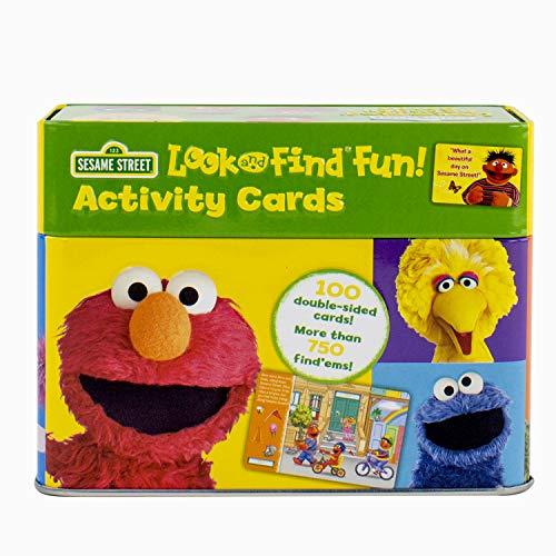 Sesame Street - Elmo, Big Bird, and more! Look and Find Fun! Activity Cards Tin Set - PI -