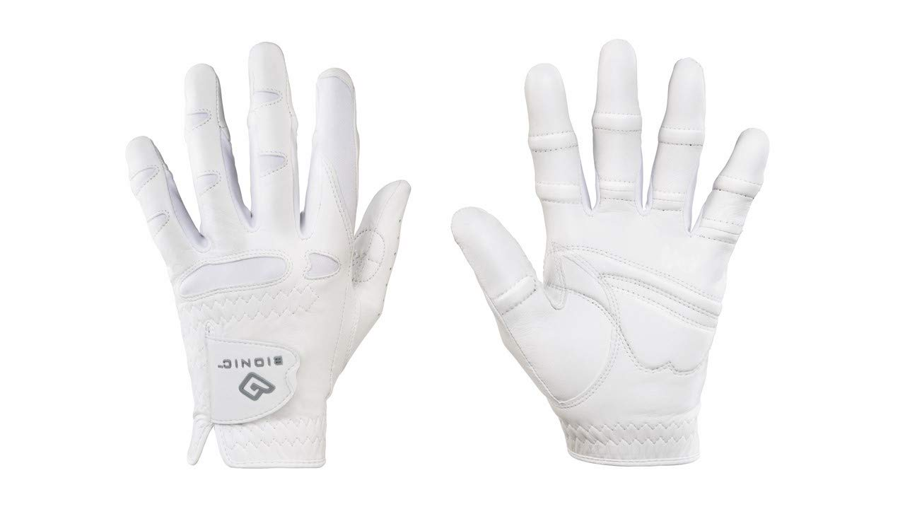 Bionic Women's StableGrip w/Natural Fit Golf Glove WH Left (XL)