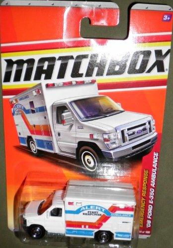 2011 MATCHBOX EMERGENCY RESPONSE WHITE ALERT FIRST RESPONSE AMBULANCE 54 OF 100 '08 FORD E-350 AMBULANCE by Matchbox