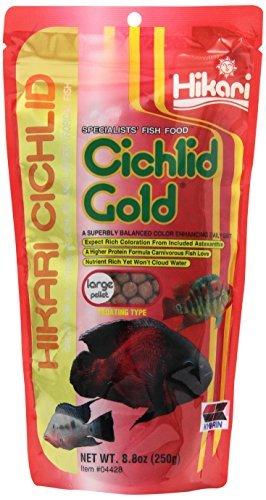 Picture of Hikari 8.8-Ounce Cichlid Gold Floating Pellets for Pets, Large