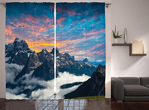 Photography Curtains Ambesonne Mountains Scenery