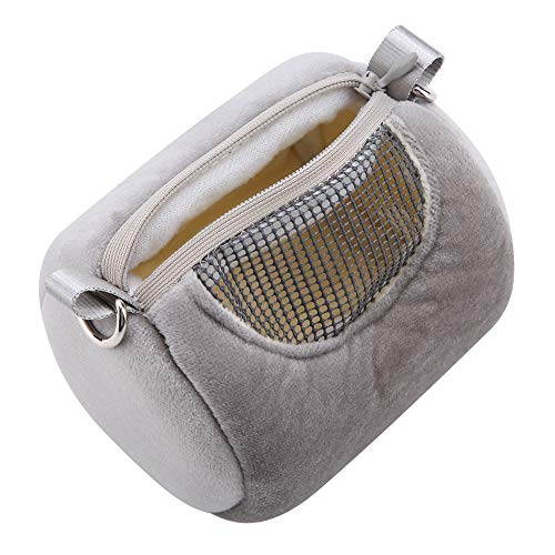TOPINCN Pet Out Backpack Breathable Pet Small Animal Carrier Hamster Travel Bag Reptile Cylinder Warm Small Pet Outdoor Bags(Gery)