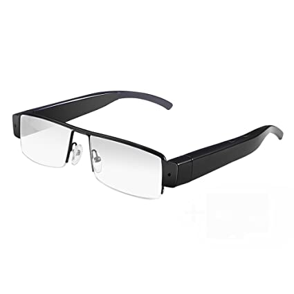 Oumeiou Cámara Oculta Gafas Invisible Micro HD Video Cámara Vigilancia Wearable DVR Eyewear Spy Cam