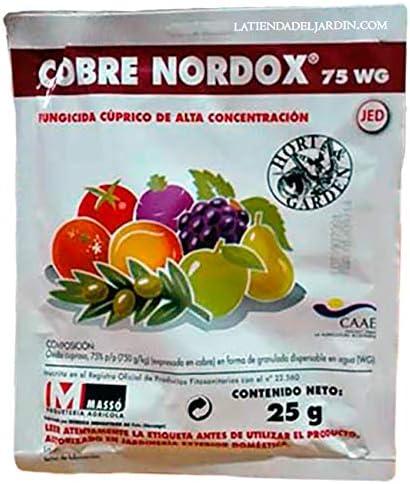 Suinga PRODUCTO CONTRA HONGOS Y MOHOS PERJUDICIALES PARA LAS PLANTAS. Cobre Nordox de 25 gr, 75% oximo cuproso