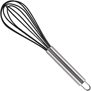 BoHan Whisks,Silicone Whisks with Stainless Steel Handles,Milk and Egg Beater Blender,Whisking,Beating and Stirring