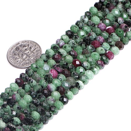 8x10mm Rondelle Faceted Natural Ruby Zoisite Semi Precious Spacer Gemstone Beads for Jewelry Making Strand 15'' Faceted Ruby Earrings