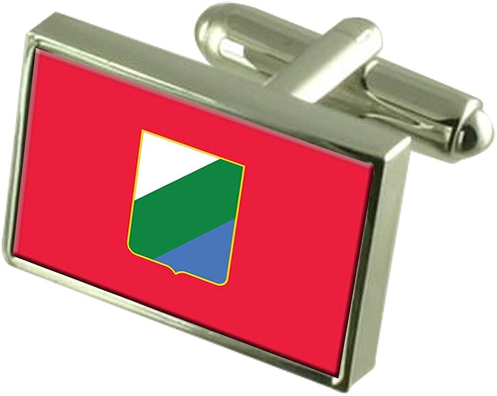 Abruzzo Region Italy Flag Cufflinks