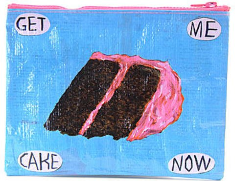 Blue Q Zipper Pouches - Get Me Cake 1 pcs sku# 1873266MA by Blue Q
