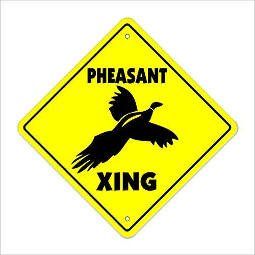 Pheasant Crossing Sign Zone Xing | Indoor/Outdoor | 14