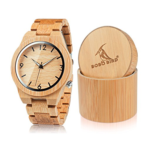 Bamboo watches the new bamboo watches bobo bird d27 mens bamboo wooden watch numeral scale large face quartz watch lightweight casual sports gumiabroncs Image collections