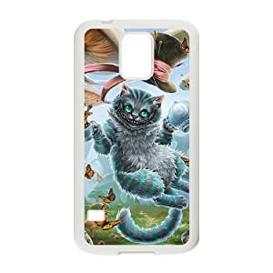 Samsung Galaxy S5 Cell Phone Case for Classic Theme lovely Cheshire Cat in Wonderland Cartoon pattern design GLYCCIW96538