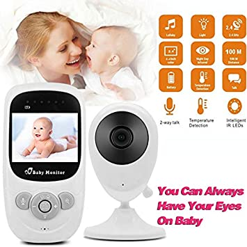 "2/"" Baby  Monitor 2.4Ghz Color LCD Wireless Audio Talk Night Vision Digital Video"
