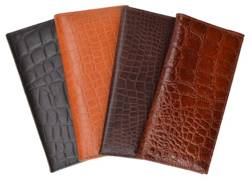 New High End Marshal Leather Checkbook Cover