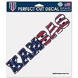 jayhawk window decal - NCAA Kansas Jayhawks Patriotic Perfect Cut Color Decal, 8 x 8-Inch