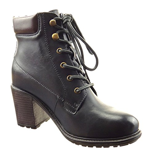 De Colcha Da Terminar Botas Sapatos Mulheres Tornozelo Moda Azul De Sopily Botas De Costurado qpwHTxCI