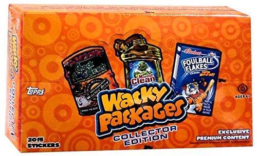 2015 Topps Wacky Packages Stickers COLLECTORS EDITION CE Hobby Box - 14 packs / 6 cards