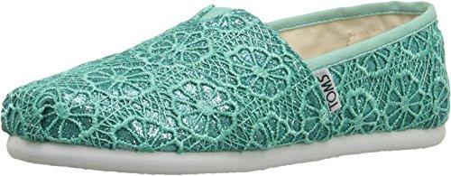 Galleon Toms Classics Mint Crochet Glitter 10007418 Youth 13