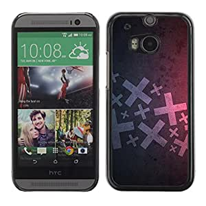 Soft Silicone Rubber Case Hard Cover Protective Accessory Compatible with HTC ONE M8 2014 - Abstract X
