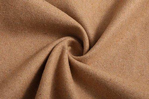 delgado largo volantes mediados peludo S Apricot abrigo ZFFde Color Con Invierno irregular tamaño corbata cuello rompevientos vendaje wnPz8EqF