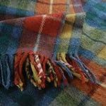 Antique Buchanan Tartan Wool Blanket...