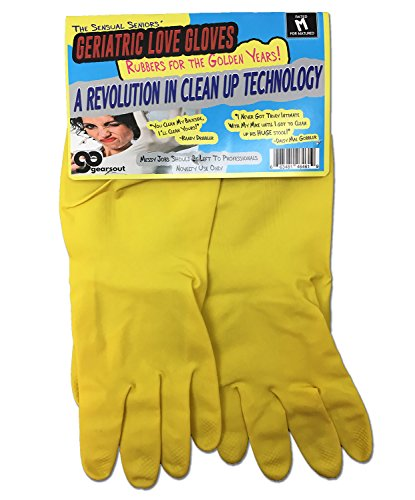 Sensual Seniors' Geriatric Love Gloves – Over-the-Hill Gag Gift for Friends Rubbers for the Golden Years Rubber Gloves Anniversary Gag Gift Retirement Funny Couple Gifts for Adults Stocking Stuffers