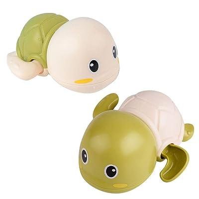 Ywoow Baby Turtle Bath Toys Bathroom Children's Play Water Parent-Child Toys, Baby Turtle Bath Toys Bathroom Children's Play Toys Green: Sports & Outdoors