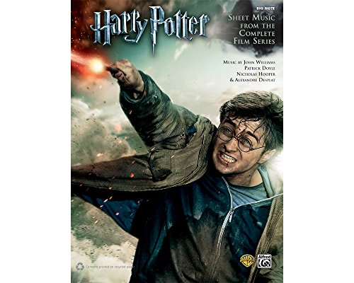 - Alfred Harry Potter Sheet Music From The Complete Film Series Big Note Piano Book