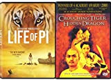 Director Ang Lee Crouching Tiger Hidden Dragon & The Life of Pi Blu Ray + DVD Double Feature