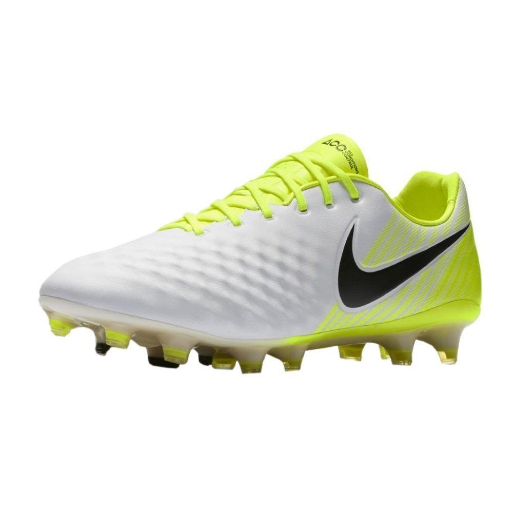 cffb8ca3800 Nike Men's Magista Opus II FG Soccer Cleats (9 D(M) US, White, Black, Volt,  Wolf Grey)