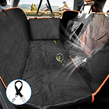 Marvelous Lantoo Dog Seat Cover Car Back Seat Cover For Dogs Pets W Mess Vent Window Front Zipper Waterproof Pet Seat Cover Hammock W Side Flap For Car Beatyapartments Chair Design Images Beatyapartmentscom