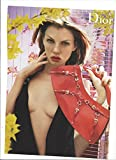 **PRINT AD** With Angela Lindvall For 2003 Dior Red Handbags Large **PRINT AD**