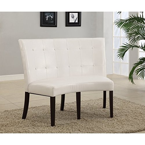 Modus Furniture 2YA466D Bossa Dining Height Banquette, White Leatherette (Banquette Dining)