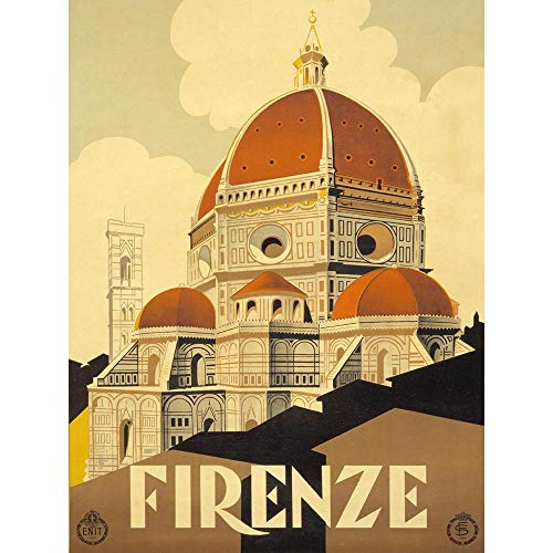 (Wee Blue Coo Travel Tourism Florence Italy Basilica Santa Maria Fiore Unframed Wall Art Print Poster Home Decor Premium)