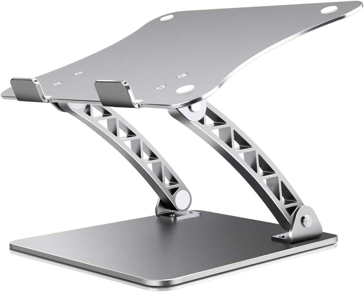 B-Land Laptop Stand, Adjustable Laptop Holder Laptop Riser Aluminum Notebook Computer Holder Stand Compatible with MacBook, Air, Pro, Dell XPS, Samsung, Lenovo, Alienware All Laptops 11-17""