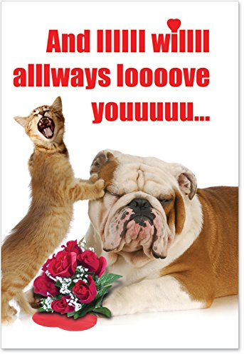 "2180 'And IIIIII Will Always' - Funny Valentine's Day Greeting Card with 5"" x 7"" Envelope by NobleWorks"