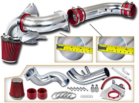 Red Heat Shield Cold Air intake Kit 1999-2004 Ford Mustang 3.8L V6