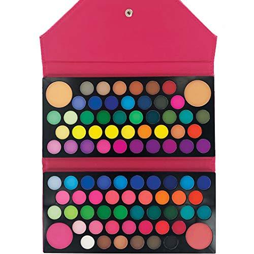 Clutch Ashley (Ashley Lee Makeup Palette Clutch 88 Matte Colors Eyeshadow Blush Bronzer (Pink Clutch))