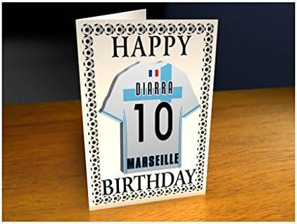 Olympique De Marseille Format A4 Carte D Anniversaire Personnalisee Aimant Amazon Fr Fournitures De Bureau