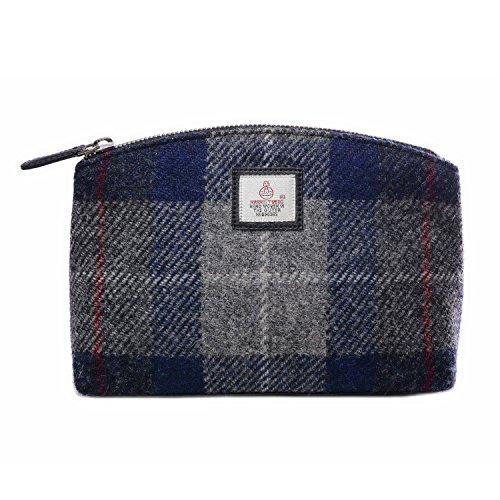 Tweed Check Ladies Blue Green Bag Cosmetic Harris Country UAdxSBppn