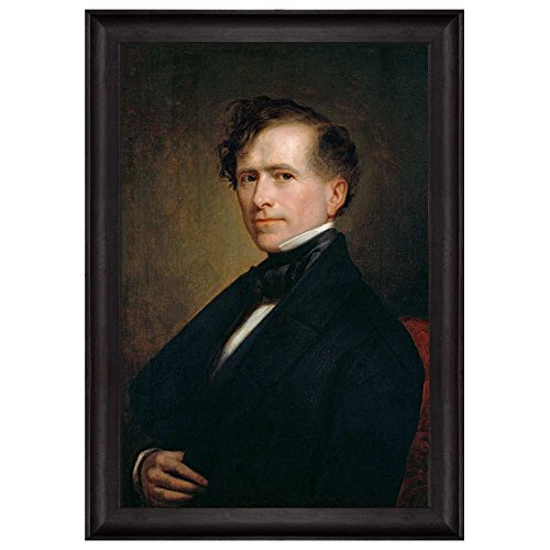 Portrait of Franklin Pierce by George Peter Alexander Healy (14th President of the United States) American Presidents Series Framed Art Print