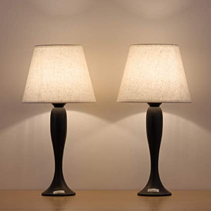 Haitral Small Bedside Table Lamps Modern Nightstand Lamps Set Of 2